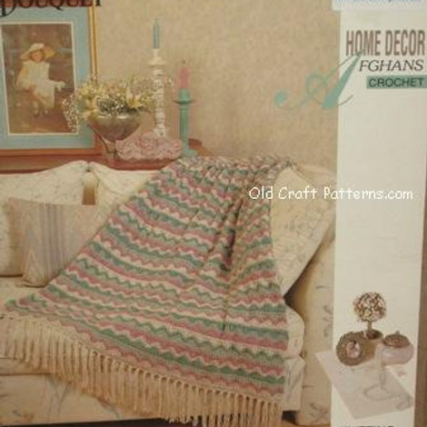 Bouquet 1301. Home Decor Crochet Afghan - Victorian Charm Pattern