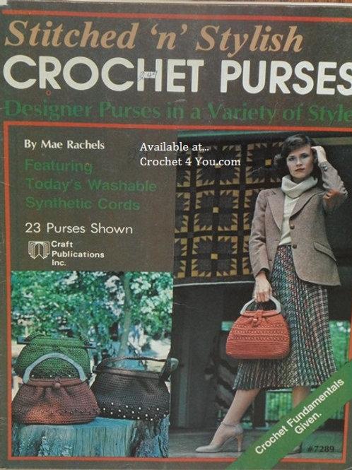 Craft Publications 7289. Crochet Purses - Many Designer Crocheted Patterns