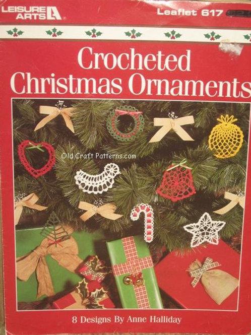 Leisure Arts 617 Christmas Crochet Ornaments Patterns