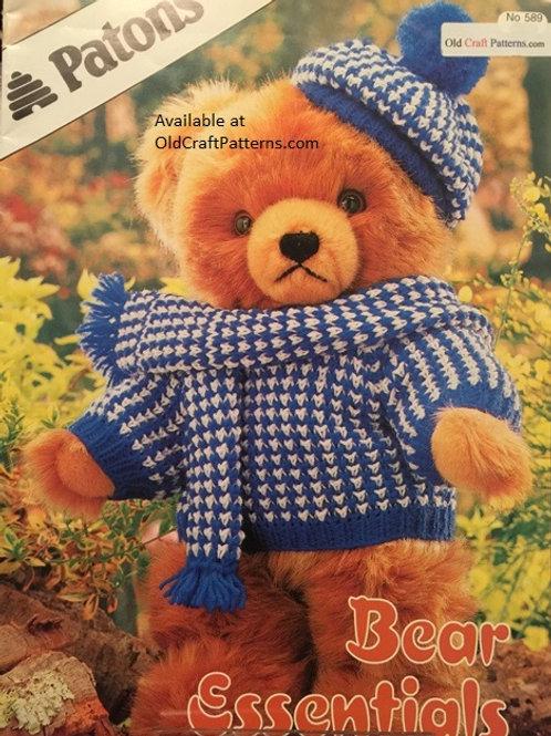Patons 589. Bear Essentials - Knitting Patterns