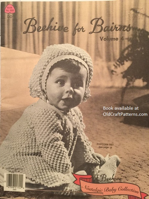 Patons 906 Beehive for Bairns Vol 4 - Baby Knitting and Crochet Patterns