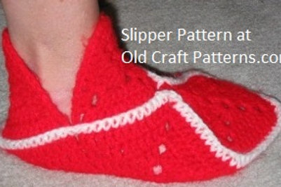 Free Crochet Granny Slipper Pattern - Quick and Easy