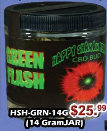 GREEN FLASH bud 14 gram jar