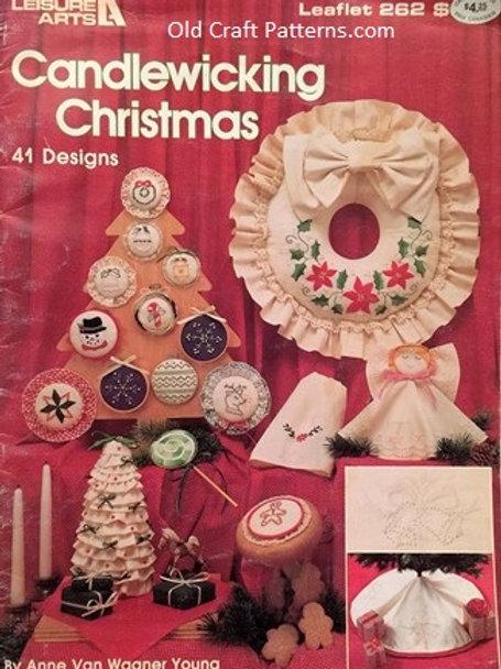 Leisure Arts 262. Candlewicking Christmas - 41 Designs / Patterns