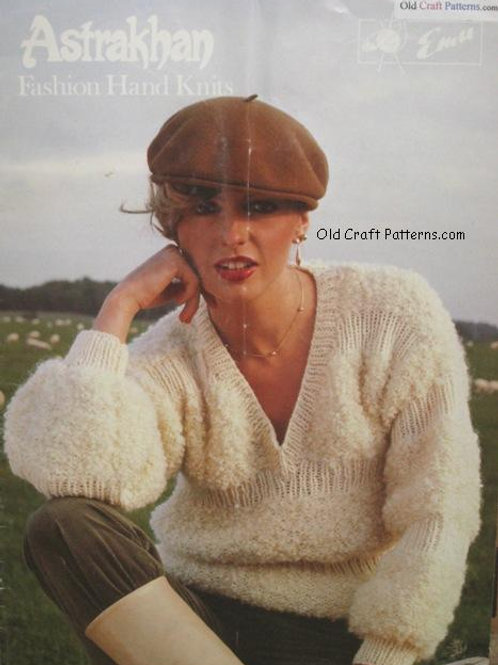 Emu 33. Astrakhan Fashion Hand Knits - Knitting Patterns