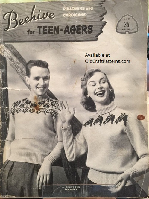Patons 47. Beehive for Teenagers - Pullovers and Cardigans