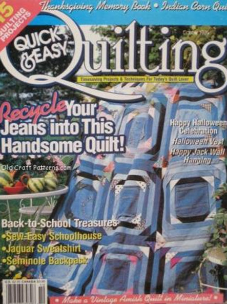 609. Quilting Quick & Easy Jeans Amish School Quilt Patterns