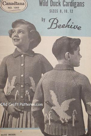 Patons Beehive 1005 Wild Duck Cardigans Knitting Patterns