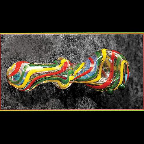 Rasta hand pipe with ridge. RAS-08
