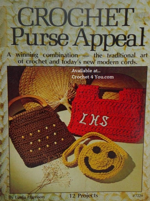 Designer Crafts 7229. Crochet Purse Appeal - 12 Projects Patterns