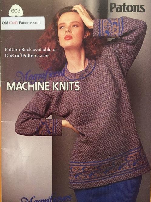 Patons 603. Machine Knits - Knitting Pattern Book