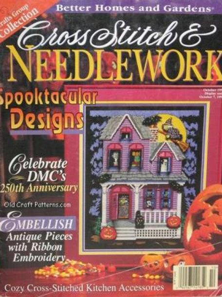 Better Homes Gardens Oct 1996 - Halloween Thanksgiving Christmas Craft Patterns