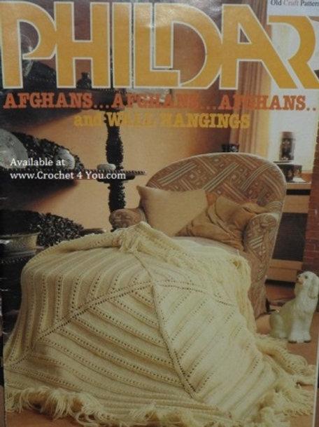 Phildar 1980. Afghans & Wall Hangings - Afghan Crochet and Knitting Patterns