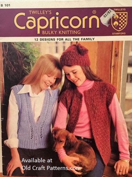 Twilleys 101. Designs for all the Family Capricorn Bulky Knitting Patterns