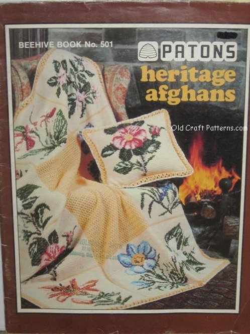 Patons 501 Heritage Afghans - Crochet Knitting Patterns