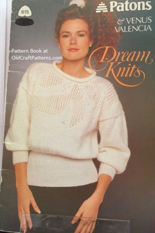 Patons 615. Dream Knits - Sweater Knitting Patterns Book