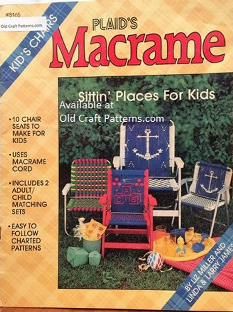 Plaids 8165. Macrame Chairs for Kids - 10 Seats with Charted Patterns