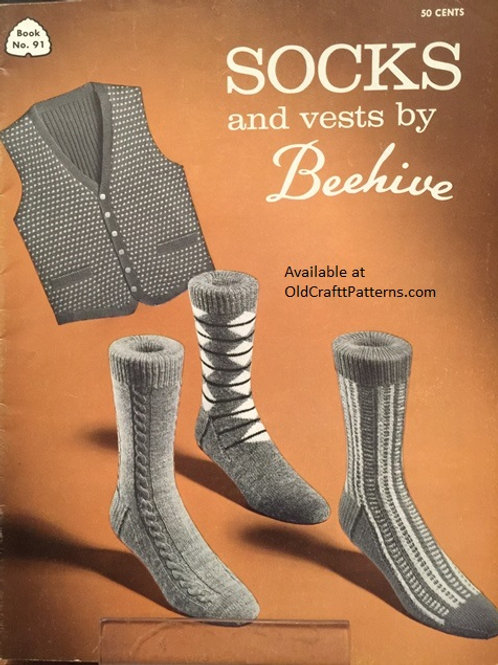 Patons 91. Socks and Vests by Beehive - Knitting Patterns