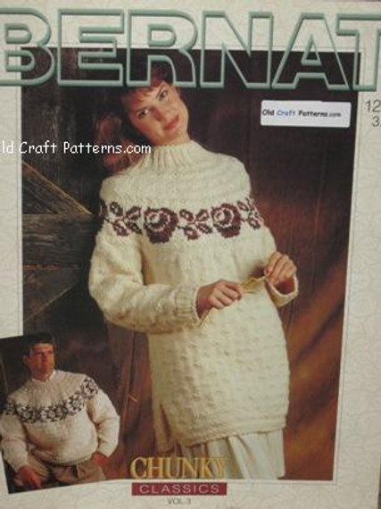 Bernat 1297 Classics Vol 3 Sweaters - His Her Knitting Patterns