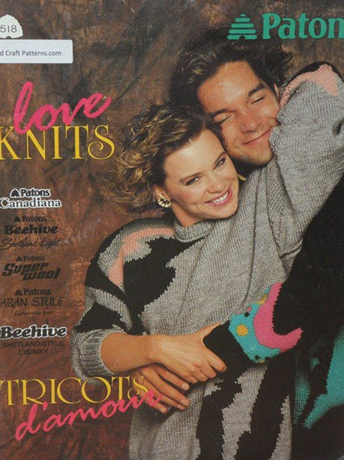 Patons 518 Love Knits His Her Sweaters