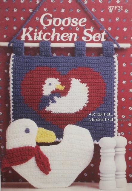 Annies Attic 87f31 Goose Kitchen Set Crochet Patterns