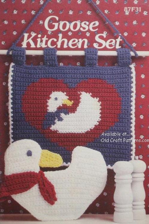 Annies Attic 87f31. Goose Kitchen Set - Crochet Patterns