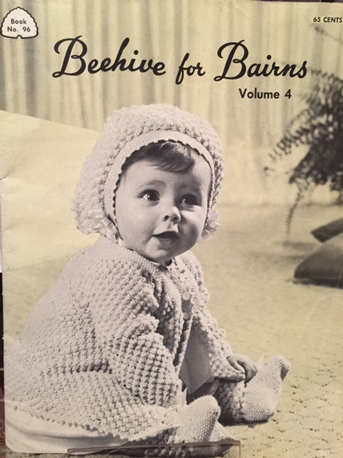 Patons 96. Beehive for Bairns Volume 4 - Baby Knitting and Crochet Patterns Book