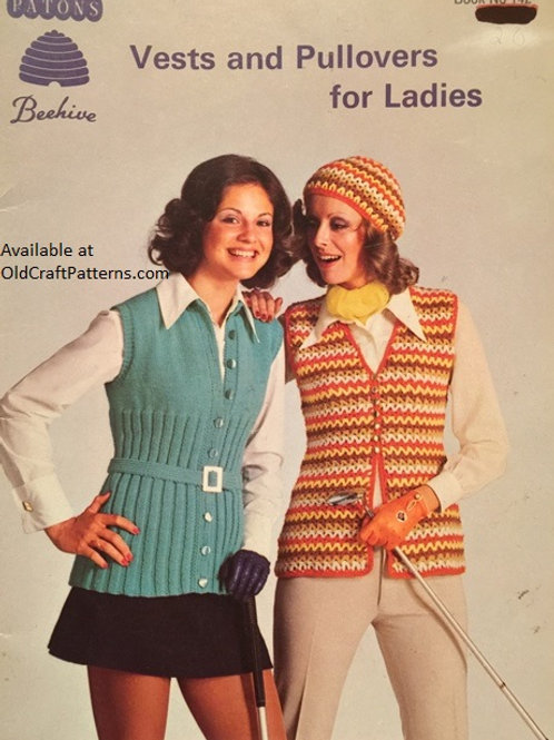 Patons 142. Vests and Pullovers for Ladies - Knitting and Crochet Patterns