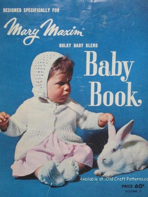 Mary Maxim No 3 Baby Book of Knitting Patterns