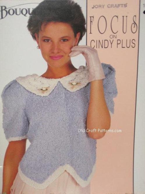 Bouquet 1213. Focus on Cindy Plus Ladies Knitting Patterns
