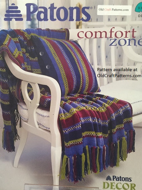 Patons 937. Comfort Zone - Afghans and Pillows for Home Decor Knitting Patterns