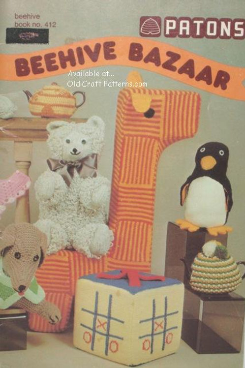 Patons 412. Beehive Bazaar Toys & Home Decor Gifts Crochet & Knitting Patterns