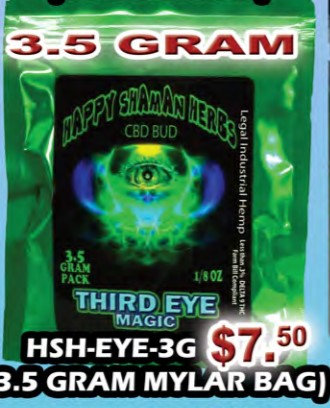THIRD EYE MAGIC bud 3.5 gram MYLAR BAG