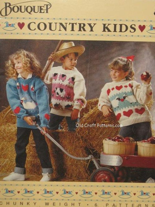 Bouquet 1218. Country Kids Sweaters - Knitting Patterns