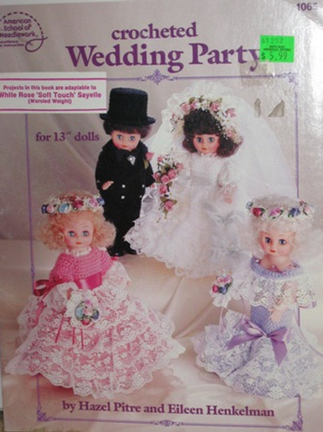 American School 1065. Wedding Party Crochet Doll Clothes Patterns