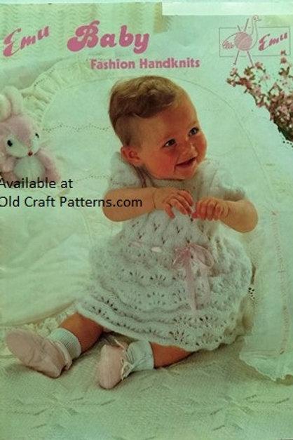 Emu 42. Baby Fashion Handknits - Dress Cape Sweaters Pants - Knitting Patterns