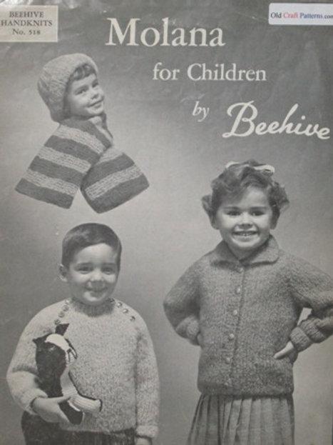 Beehive 518. Molana Mohair for Children - Knitting Patterns