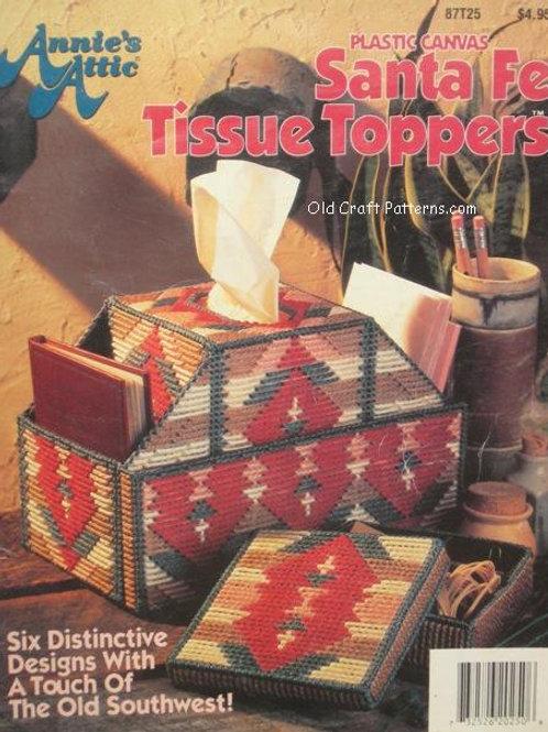 Annies Attic 87T25. Santa Fe Tissue Toppers - 6 Plastic Canvas Patterns