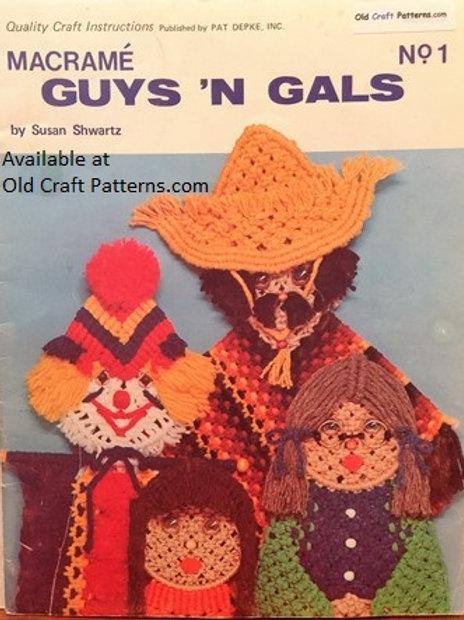 Pat Depke No 1. Guys 'n Gals Macrame Girls Boys Macrame Patterns