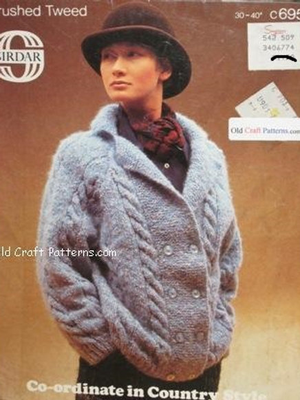 Sirdar 6956. Cabled Jacket - Knitting Pattern