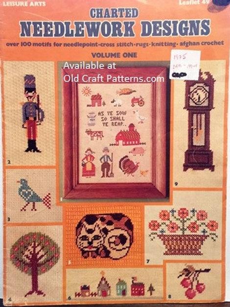 Leisure Arts 49. Charted Needlework Designs - over 100 Motifs Designs