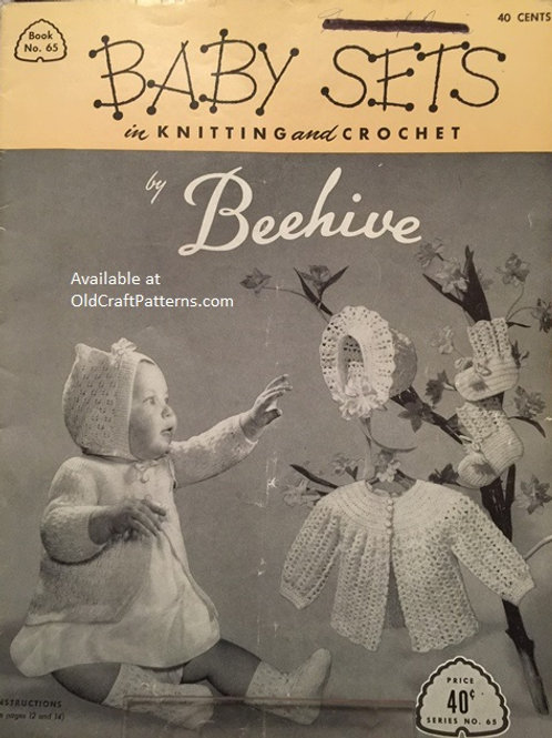 Patons 65 Baby Sets in Knitting and Crochet Patterns by Beehive