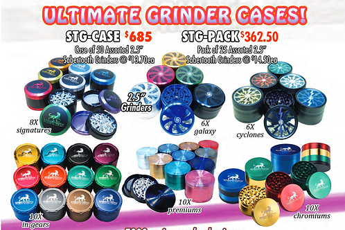 ULTIMATE GRINDER CASE OF 25/2.5inch