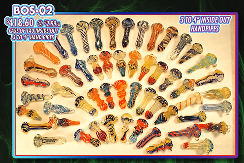 """CASE OF 140 INSIDE OUT 3-4"""" HANDPIPES"""