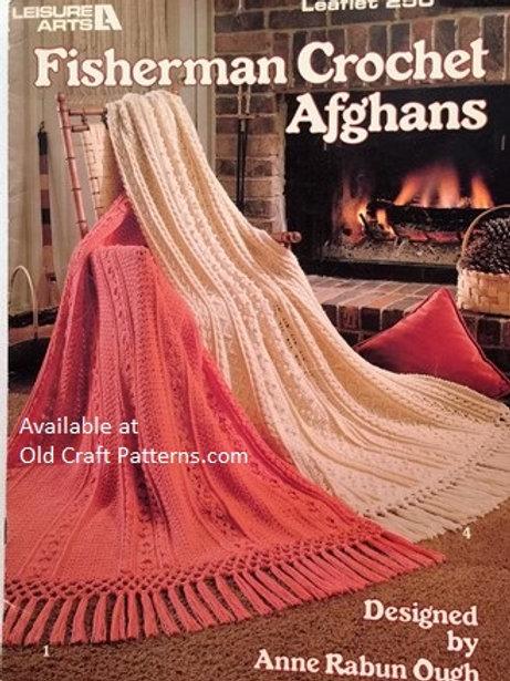 Leisure Arts 250. Fisherman Crochet Afghans Patterns