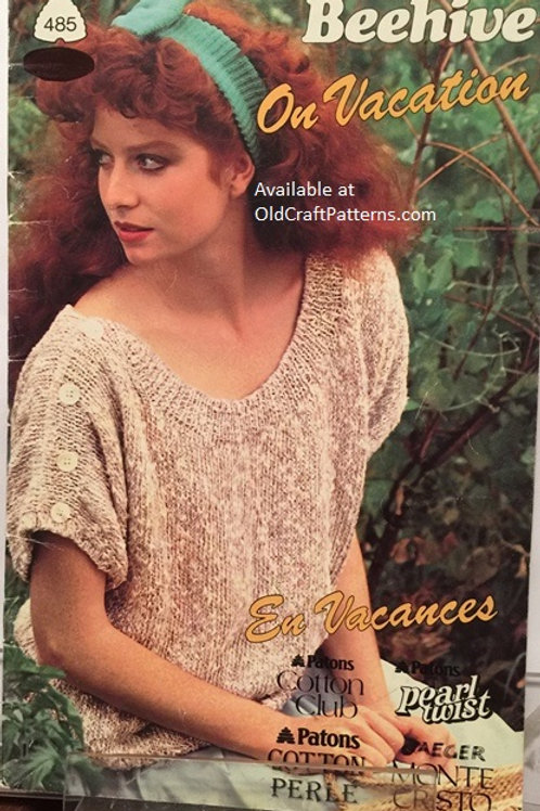 Patons 485. On Vacation - Ladies Cotton Tops - Knitting Patterns