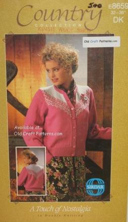 f65a62e64 Sirdar 8659. Ladies Fair Isle Yoke on Cardigan Sweater - Knitting ...