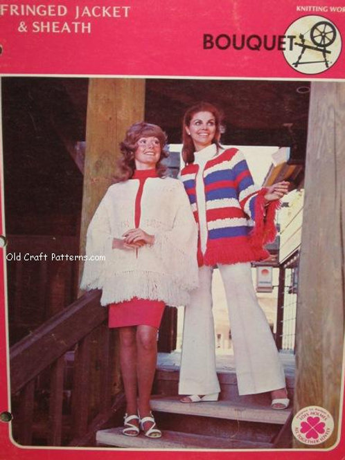 Bouquet 328 Fringed Ladies Jacket & Sheath Knitting Patterns