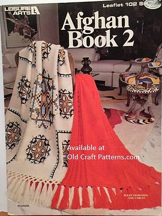 Leisure Arts 102 Afghan Book 2 Knitting Crochet Patterns