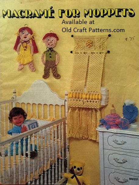 Leisure Time 331. Macrame for Moppets - Baby Childrens Hangers Toys Patterns
